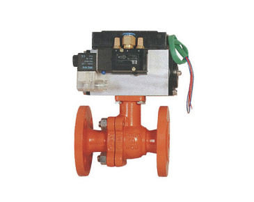 Q641F Pneumatic actuated two-piece ball valve